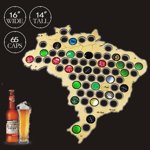Brazil Beer Cap Map - BEERMAP