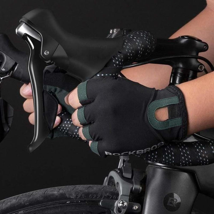 ROCKBROS Cycling Gloves Breathable Sweat-Wicking Net Bicycle