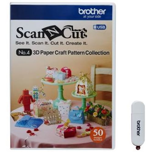 Brother CAUSB4 Fabric USB No.4 3D-Craft Pattern Collection