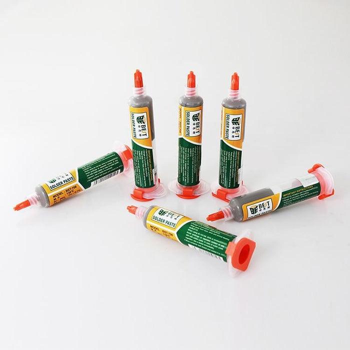 BEST BST-706 10cc 138℃ Syringe DIY Solder Soldering Paste Flux Chips Computer Phone BGA SMD PGA PCB Repair Tool