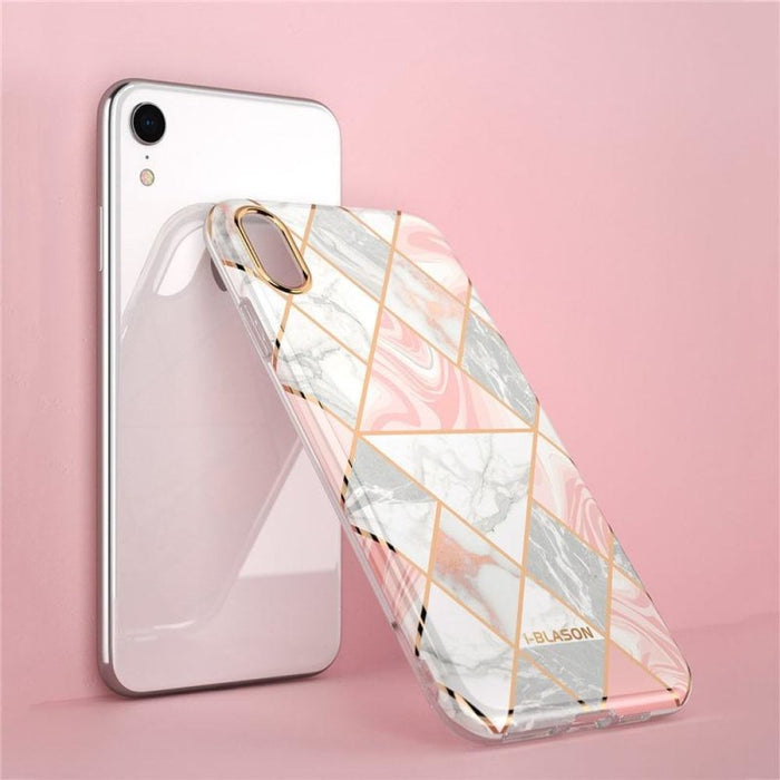 Bumper Marble back Case for Iphone Xr 6.1 Inch (2018 Release) without Built-in