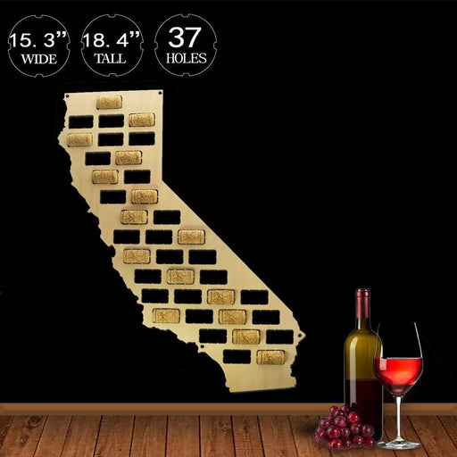 US Country State Wooden Wine Cork Map California Wine Cork Display Wall Map California Wall Decor Home Bar Wine Enthusiast Gift