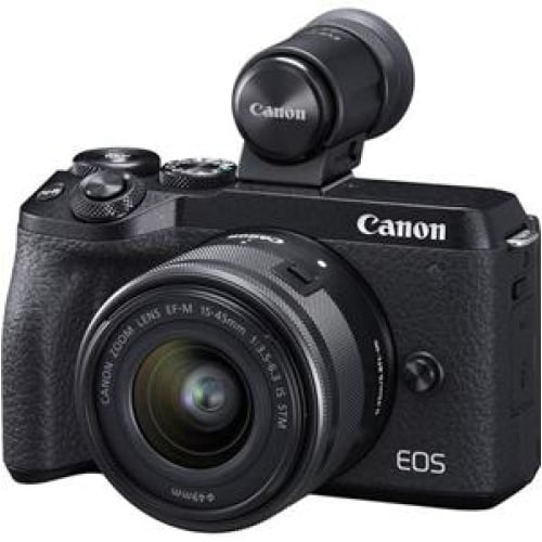 Canon EOS M6 Mark II Camera + EF-M 15-45mm f3.5-6.3 IS STM