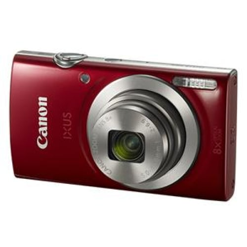 Canon IXUS 185 20.0MP 8x Zoom Digital Camera Red Digital