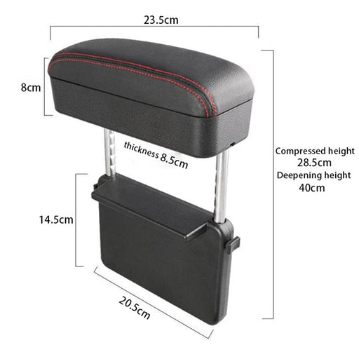 Car Center Console Organizer Universal Elbow Support Armrest Storage Box Holder Container Leather Arm Rest With Wireless Charger