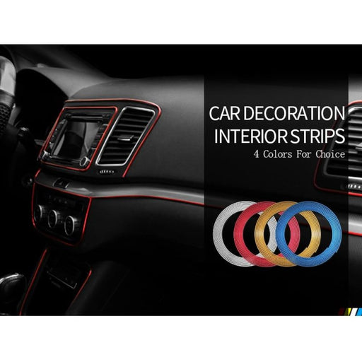 Car Styling Interior Decoration Strips 3D Moulding Trim Dashboard Door Edge Universal For Cars Auto Accessories In Car-styling