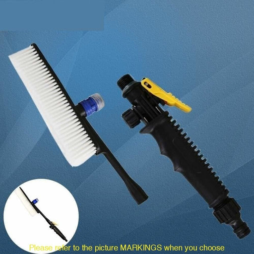 Car Wash Brush Auto Exterior Long Handle Brush for Car Cleaning Water Flow Switch Mini Foam Lance Tire Clean Tool Maintenance