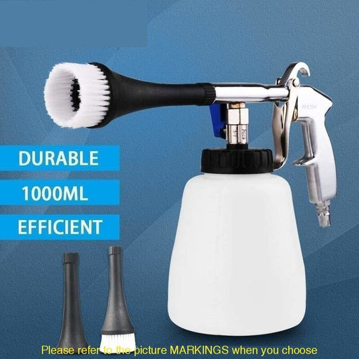 Car Wash Portable Interior Deep Cleaning Gun Washer Cockpit Care With Brush Air Operated High Pressure Car Accessories