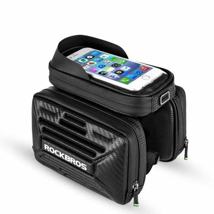 ROCKBROS Bicycle Bag Carbon Pattern Touch Screen Bike Phone