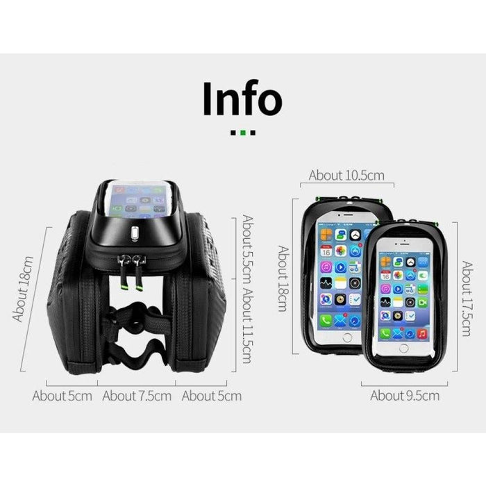 Carbon Pattern Touch Screen Bike Phone Bag
