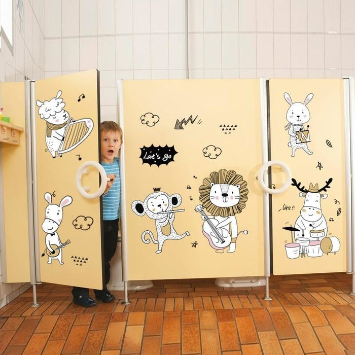 Funny Cartoon Animals World Wall Stickers for Children Rooms