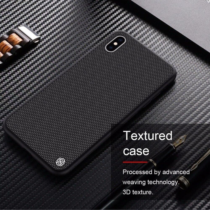 Case for Iphone Xs Max Textured Nylon Fiber Case back Cover