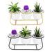 Ceramic Succulent Plant Flower Pot Bonsai Holder Home Tabletop Garden Decor With Stand