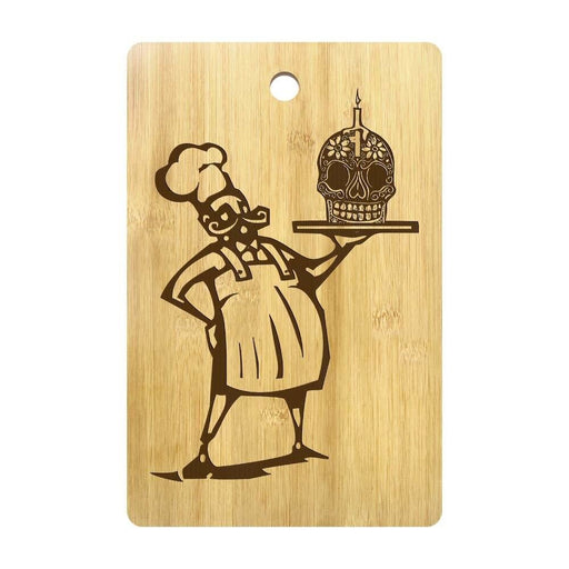 Day of The Dead Chef Skull Cook Engrave Cutting Board Dia De Los Muertos Kitchen Cooking Accessories Custom Name Chopping Board