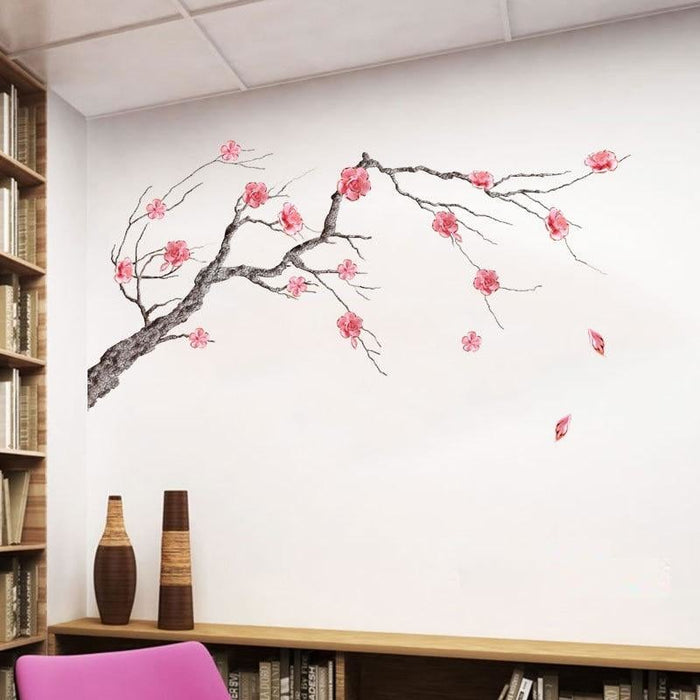 Chinease Style Pink Plum blossom Wall Stickers Tree Branch