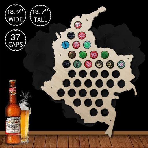 Columbia Beer Cap Map - BEERMAP