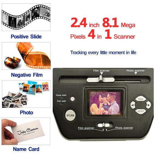 8.1 Mega Pixels Photo and Film Scanner 135 Negative Scanner Photo Scanner COMBO Scanner 2.4 inch Film Converter Bussiness Card