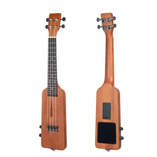 Creative Bottle Shape 21/23 Inch Ukulele Solid Wood Okoume Electric Ukulele Ukelele Uke Kit with Bag 3.5mm Audio 4pcs Strings