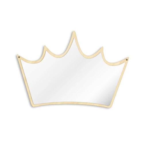 King of Crown Decorative Wall Mirror Wood and Acrylic Girl Princess Crown Safety Mirror Kid Room Baby Mirror Gift For Her