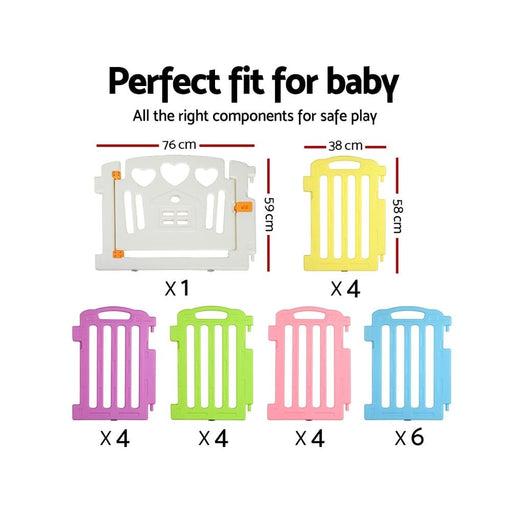 Cuddly Baby 23-panel Plastic Baby Playpen Interactive Kids