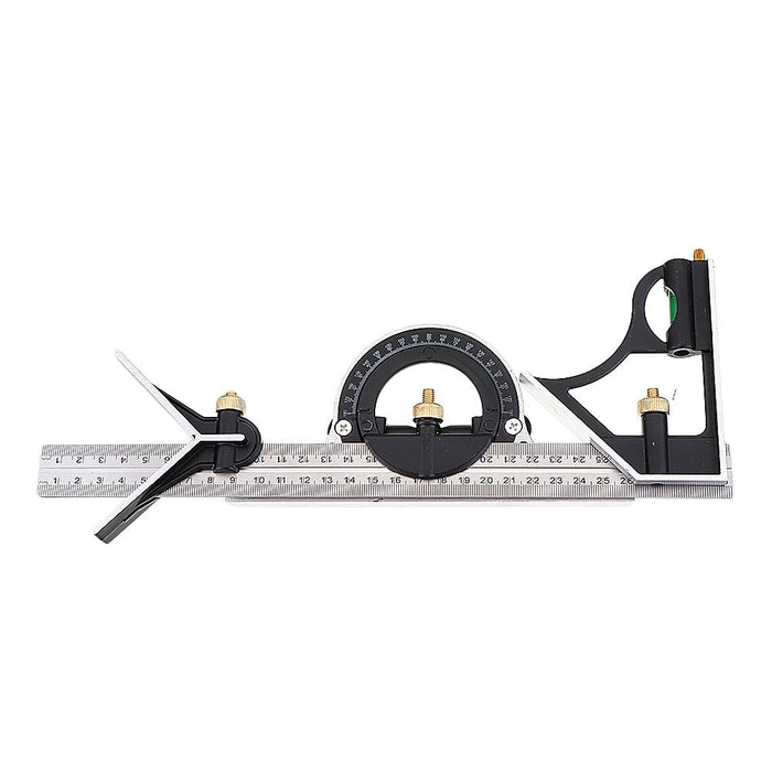 DANIU 12 Inch 300mm Adjustable Combination Square Angle Ruler 45/90 Degree With Bubble Level