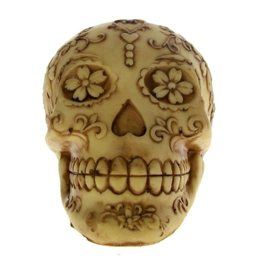 Day of The Dead Skull Statue Figurine Dia De Los Muertos Collectibles Floral Tattoo Sugar Skull Figurine Skeleton Desktop Decor