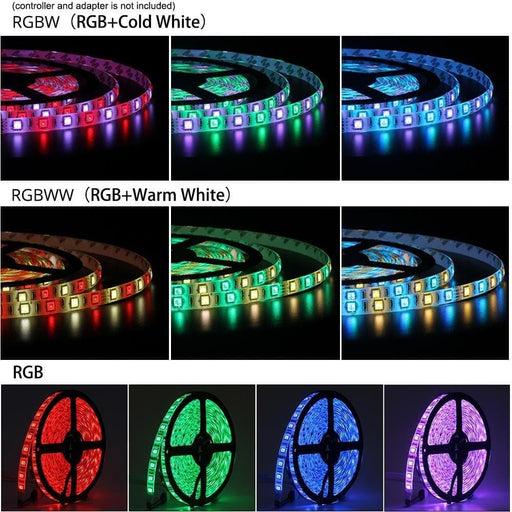 DC12V LED Strip 5050 SMD 60LEDs/m 5M/lot IP20 IP65 Flexible Strip Lights 5050 RGB RGBW RGBWW CCT White Warm white Red Blue Green