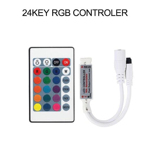 DC12V Mini LED controller RGB RGBW Controller 24key 44Key 40Key IR/17Key RF Remote for LED strip Light 3528 5050 RGB RGBW RGBWW