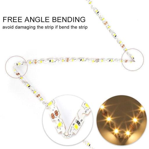 DC12V S Shape LED Strip 2835 SMD 60LED/m 5M/lot Free Bending S type flexible strip light for Channel Letter Sign Backlight