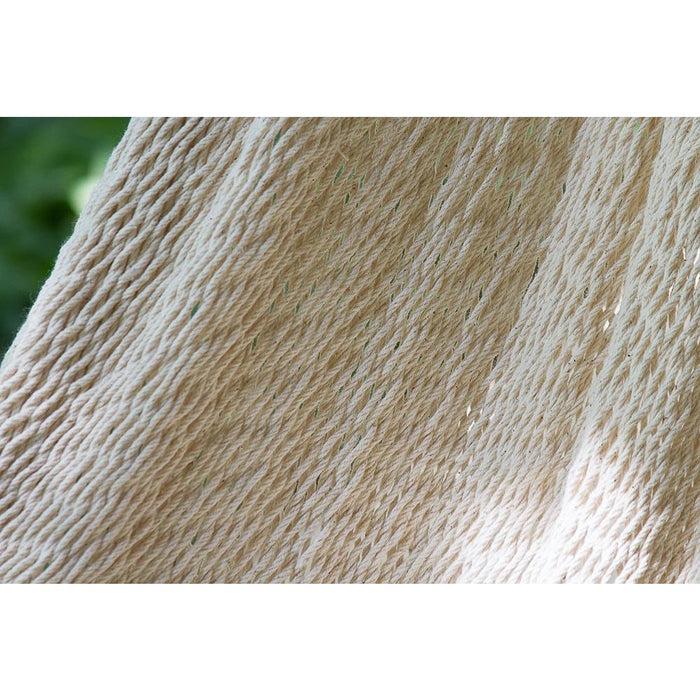 Deluxe Outdoor Cotton Mexican Hammock in Cream Colour Queen