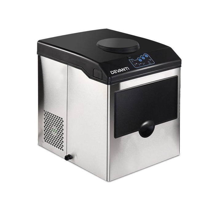 DEVANTi 2 in 1 Portable Commercial Ice Cube Maker Machine Water Dispenser goslash fast delivery fast delivery
