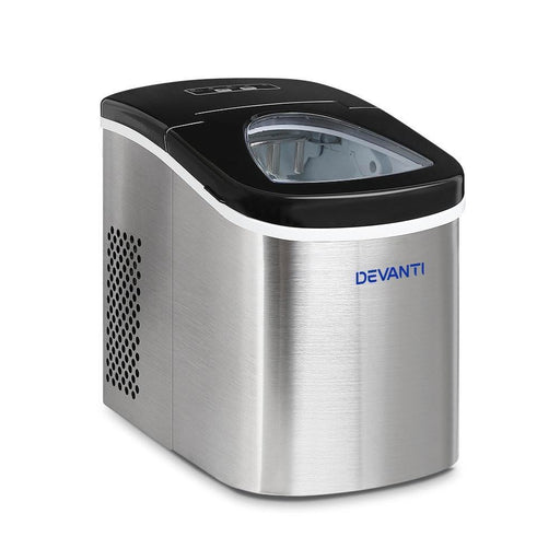 Devanti 2.4L Stainless Steel Portable Ice Cube Maker goslash fast delivery fast delivery