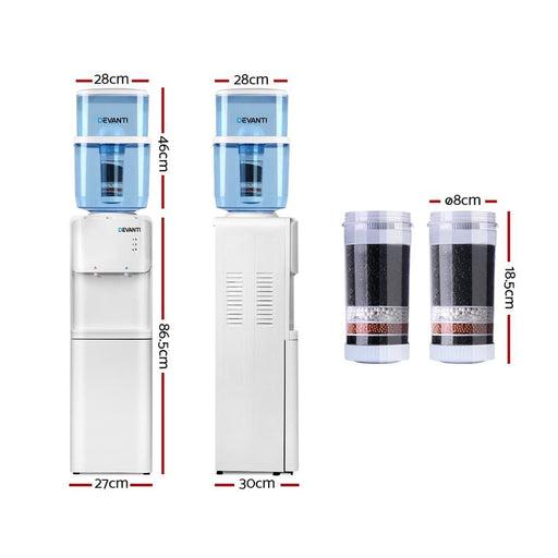 Devanti 22l Water Cooler Dispenser Hot Cold Taps Purifier
