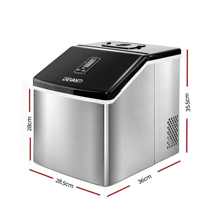 DEVANTi 3.2L Portable Ice Cube Maker Cold Commercial Machine Stainless Steel goslash fast delivery fast delivery