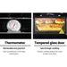 Devanti 3 Burner Portable Oven - Black & Yellow - Appliances