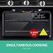 Devanti 3 Burner Portable Oven - Silver & Black - Appliances