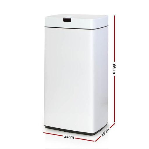 Devanti 45L Sensor Bin White goslash fast delivery fast delivery