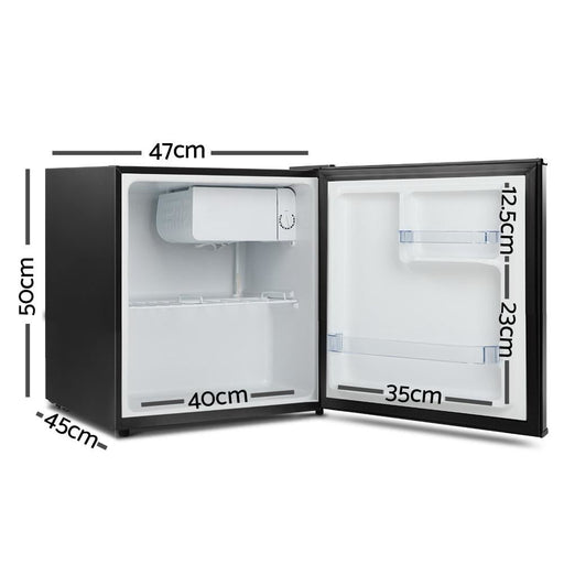 Devanti 48l Portable Mini Bar Fridge - Black - Appliances >