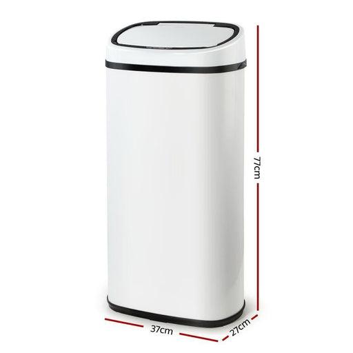 Devanti 68L Sensor Bin White goslash fast delivery fast delivery