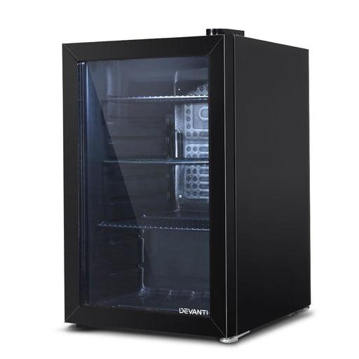 Devanti 70L Bar Fridge Glass Door Mini Countertop Freezer Fridges Bottle Cooler