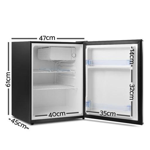 Devanti 70l Portable Mini Bar Fridge - Black - Appliances >