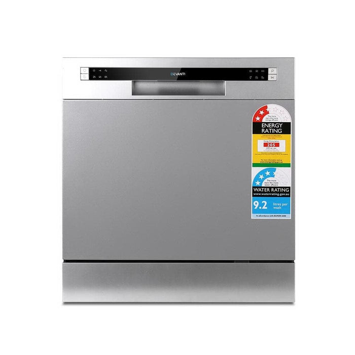 Devanti Benchtop Dishwasher 8 Place Setting - Appliances >