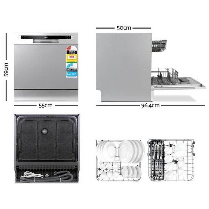 Devanti Benchtop Dishwasher 8 Place Setting goslash fast delivery fast delivery