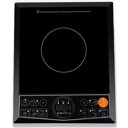 5 Star Chef Portable Single Ceramic Electric Induction Cook Top - Black goslash fast delivery fast delivery