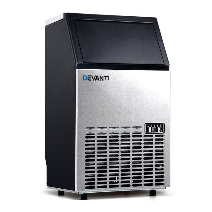 Devanti Stainless Steel Commercial Ice Cube Maker goslash fast delivery fast delivery