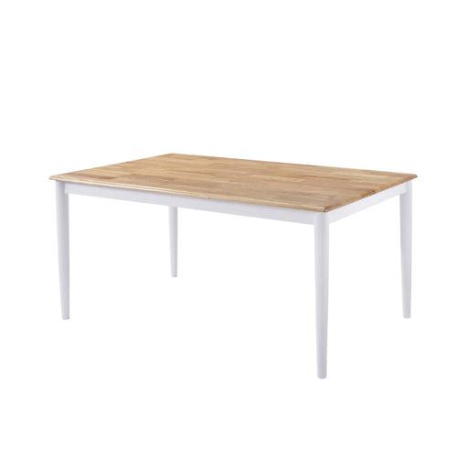 Dining Table Solid Rubberwood Danish Natural Oak