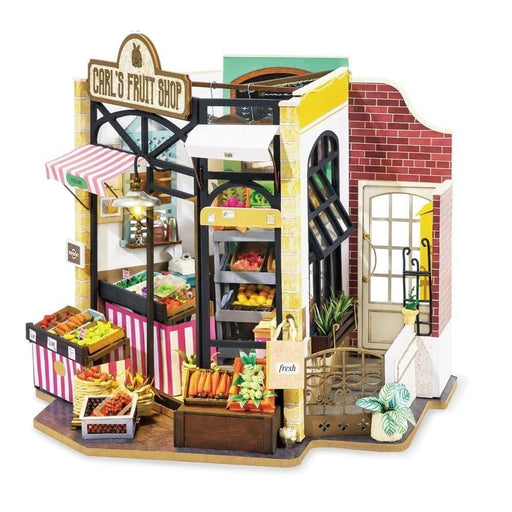 DIY Carl's Fruit Shop Doll House with Furniture Children Adult Dollhouse