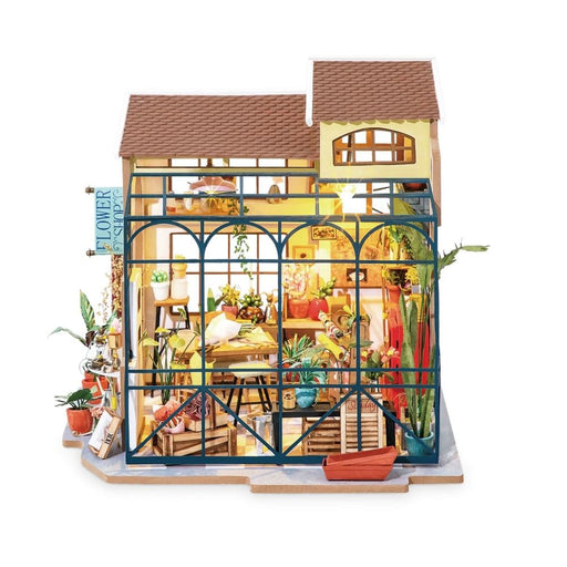 DIY Emily's Flower Shop Doll House with Furniture Children Adult Dollhouse
