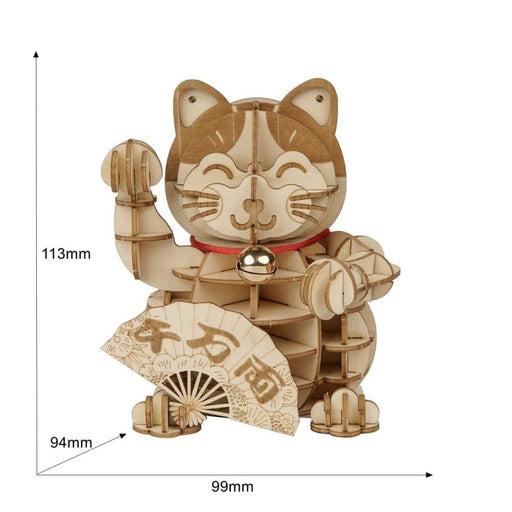 Diy Plutus Cat 3d Wooden Puzzle Game - ROBO3DPUZZLE