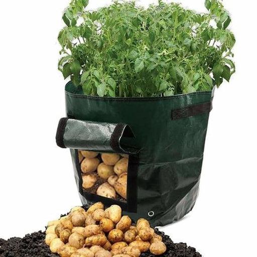 DIY Potato Grow Planter PE Cloth Planting Container Bag Vegetable Gardening Planting Grow Bag Growing Box Round Pot Container
